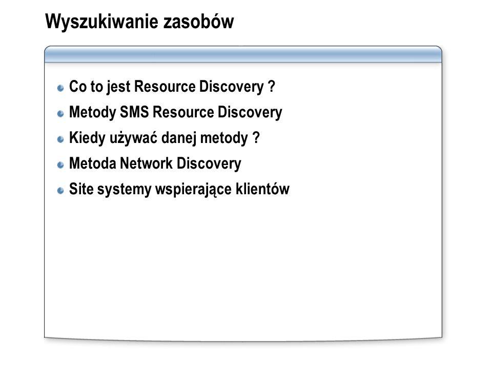 Wyszukiwanie zasobów Co to jest Resource Discovery