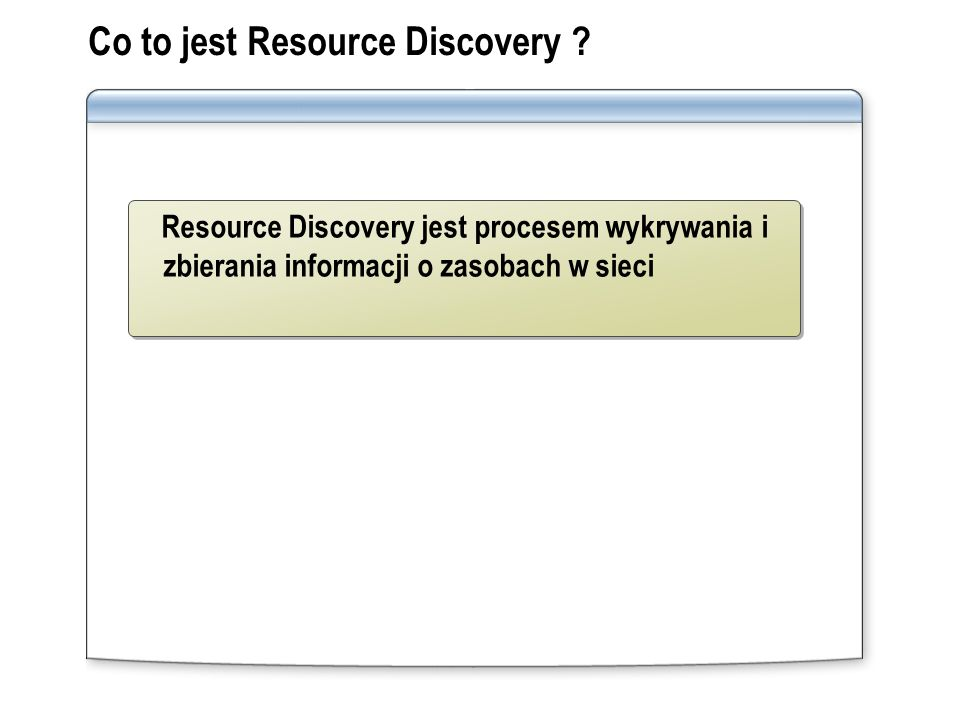 Co to jest Resource Discovery