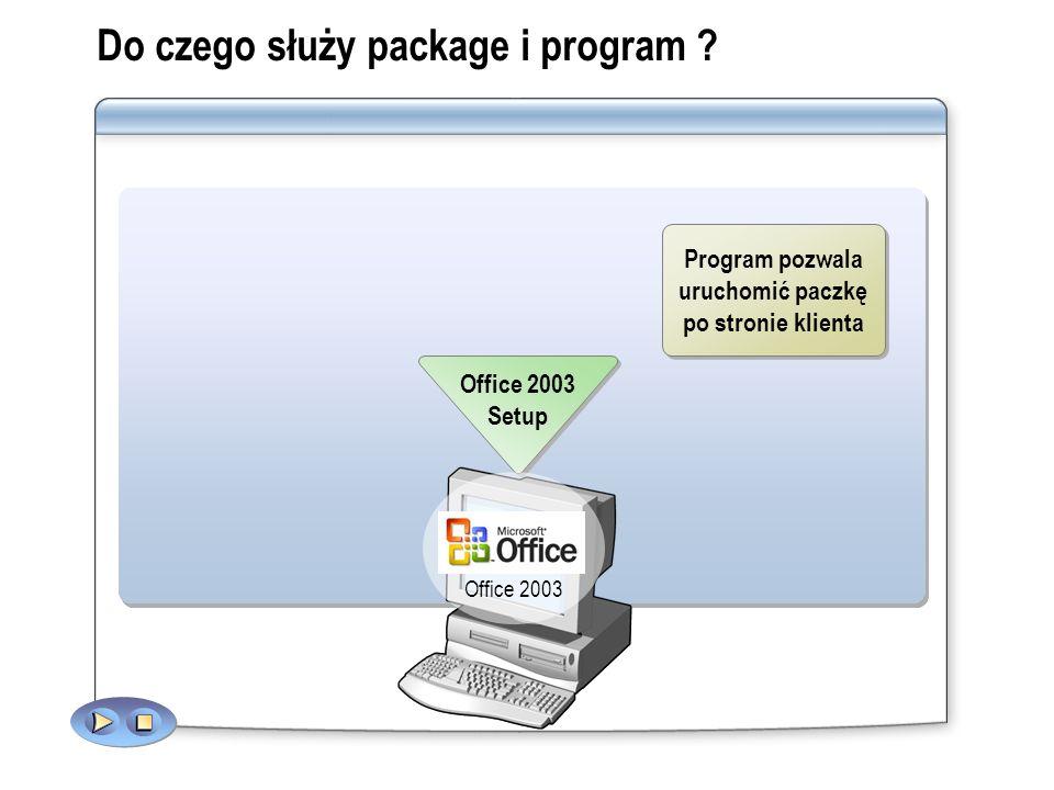 Do czego służy package i program