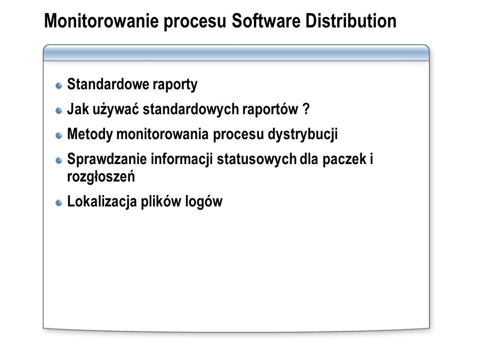 Monitorowanie procesu Software Distribution