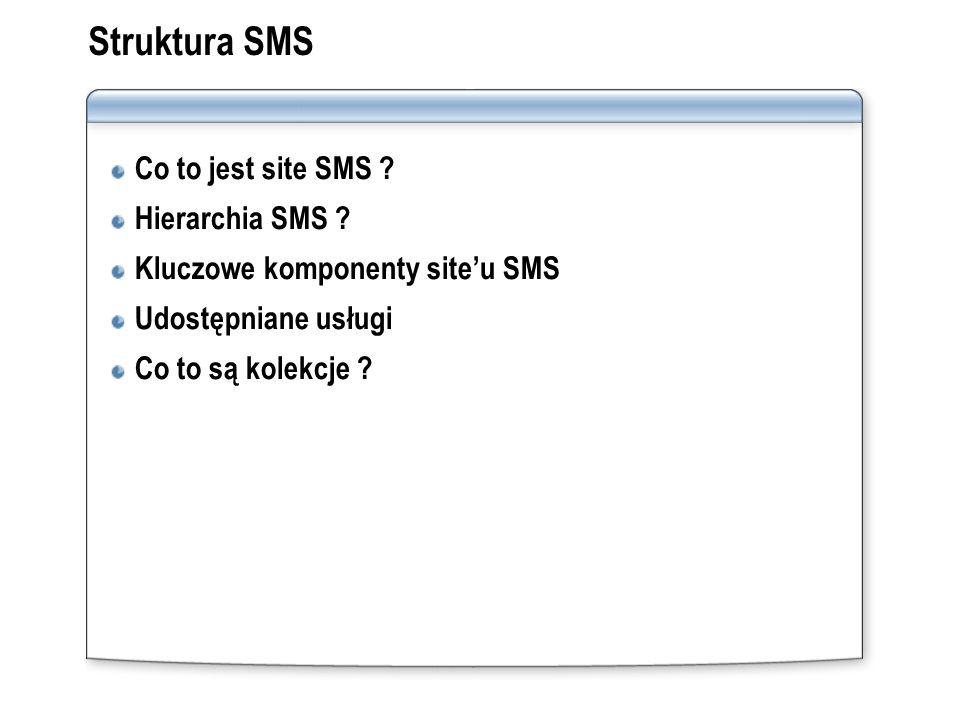 Struktura SMS Co to jest site SMS Hierarchia SMS