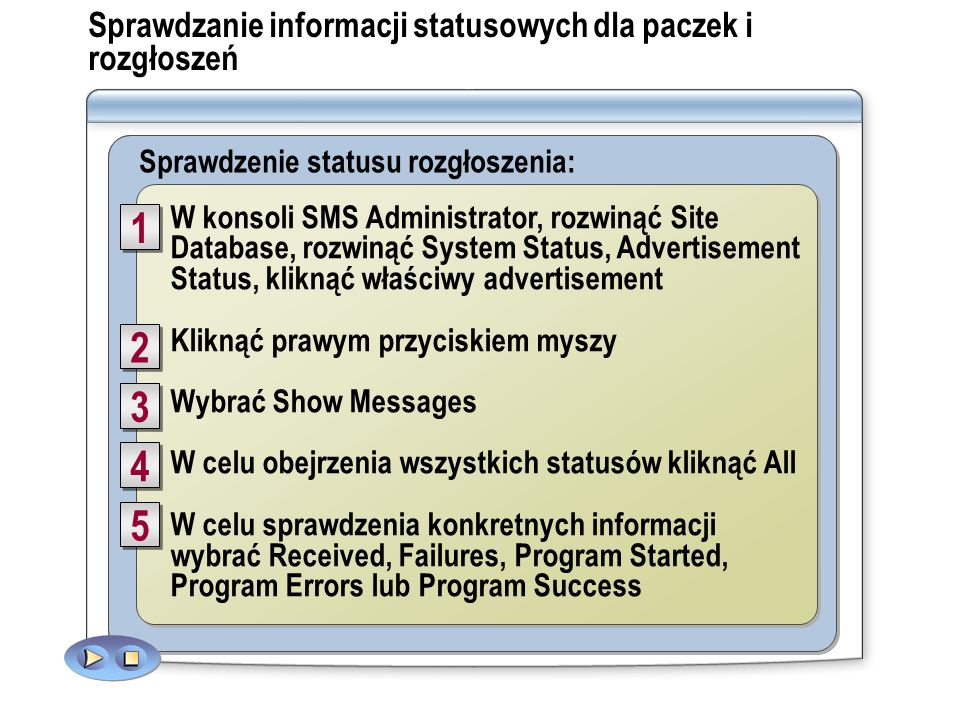 Sprawdzanie informacji statusowych dla paczek i rozgłoszeń