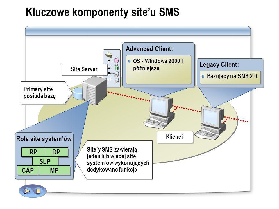 Kluczowe komponenty site'u SMS