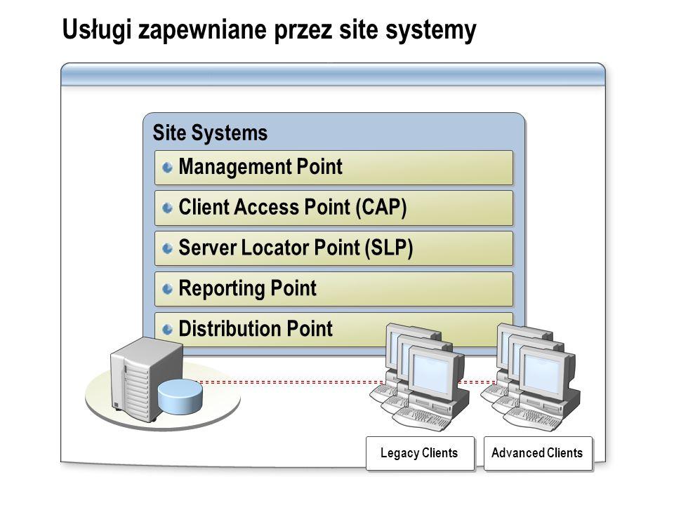 Usługi zapewniane przez site systemy