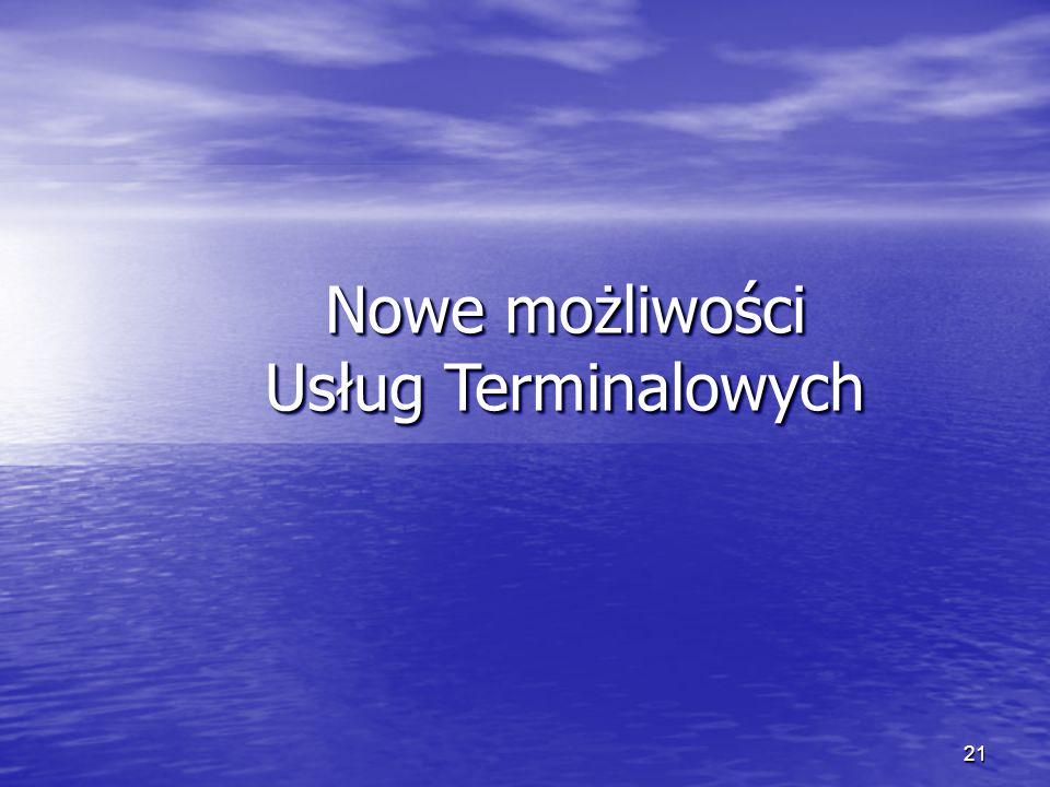 Nowe możliwości Usług Terminalowych