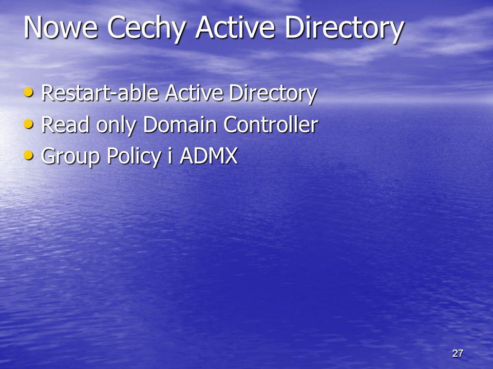 Nowe Cechy Active Directory