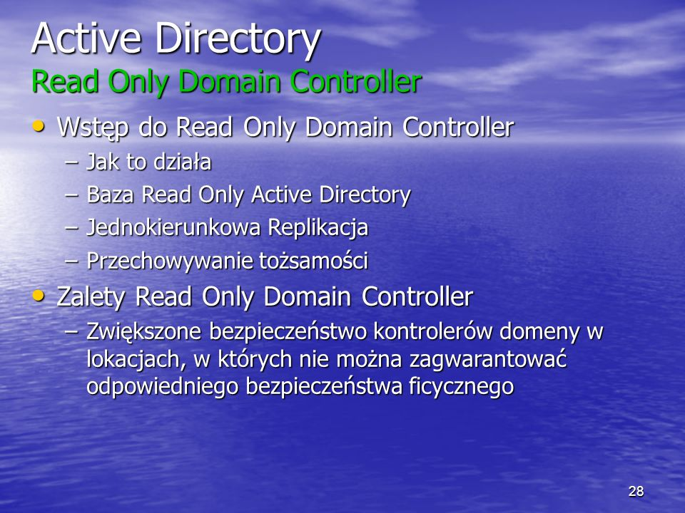 Active Directory Read Only Domain Controller