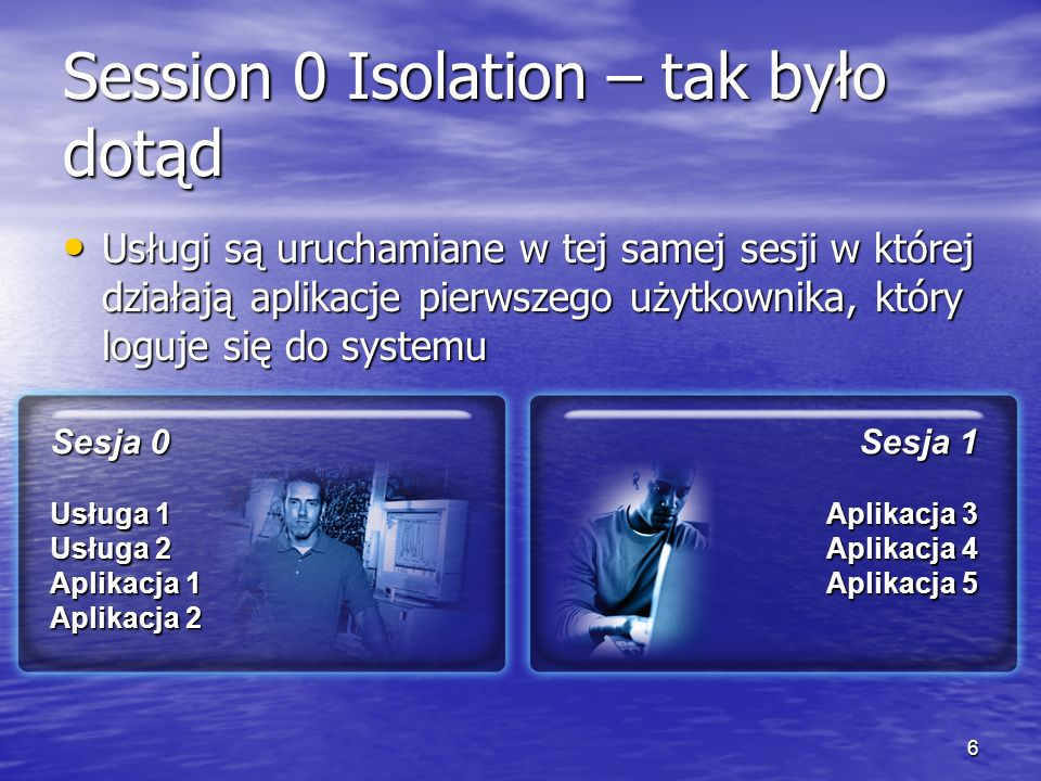 Session 0 Isolation – tak było dotąd