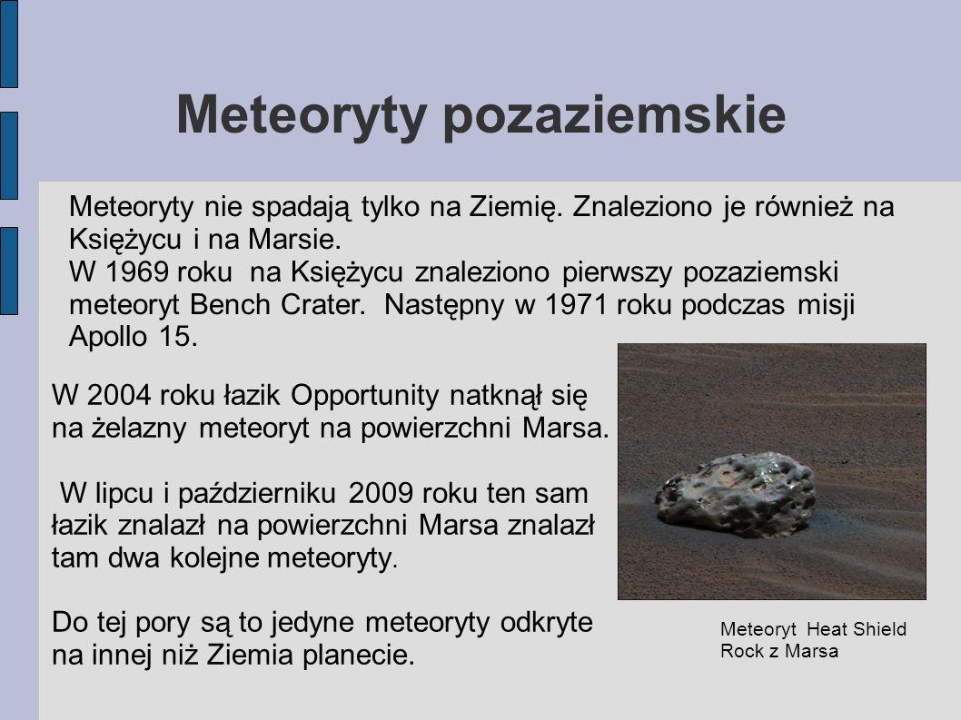 Meteoryty pozaziemskie