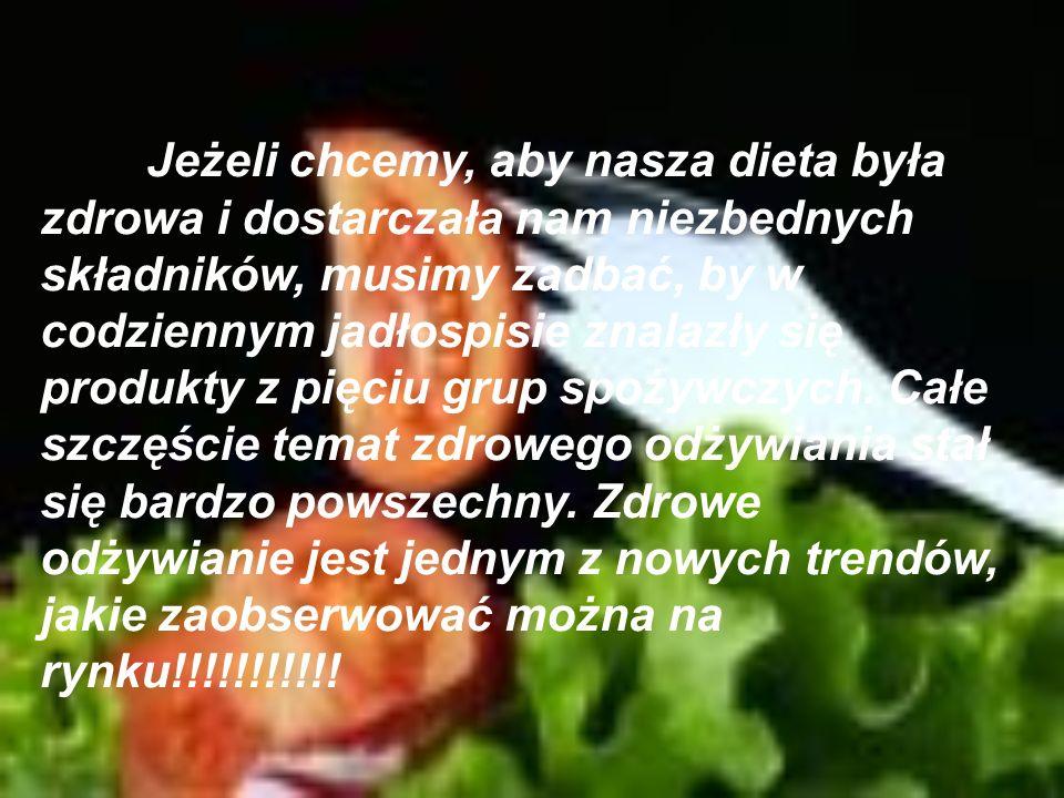 Jeżeli chcemy, aby nasza dieta była zdrowa i dostarczała nam niezbednych składników, musimy zadbać, by w codziennym jadłospisie znalazły się produkty z pięciu grup spożywczych.