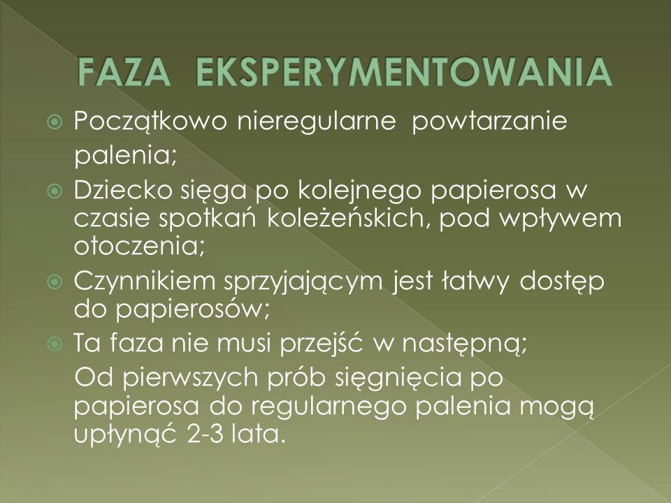 FAZA EKSPERYMENTOWANIA