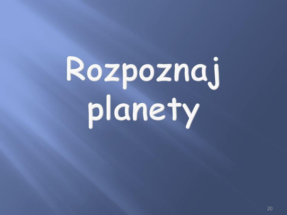 Rozpoznaj planety