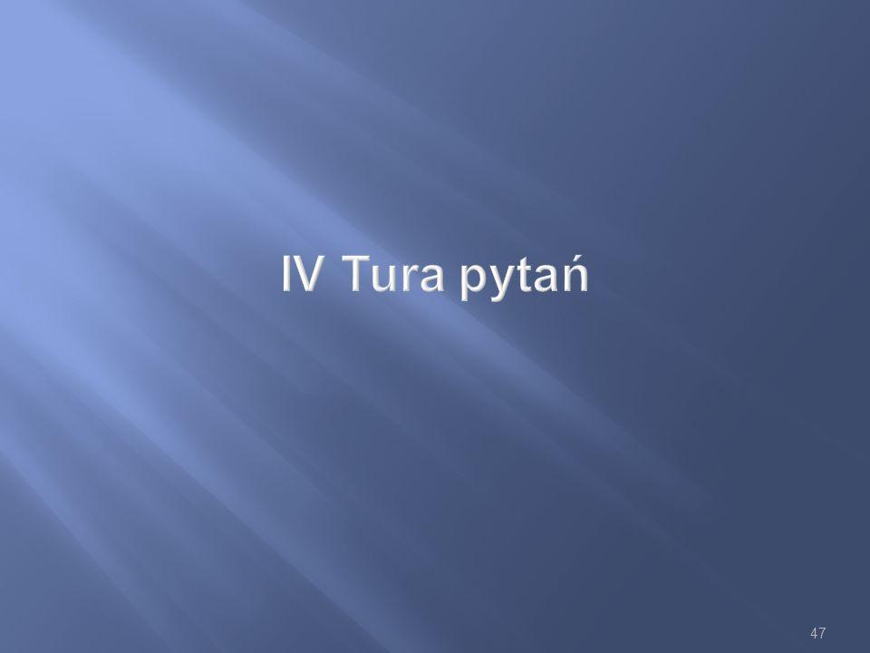IV Tura pytań