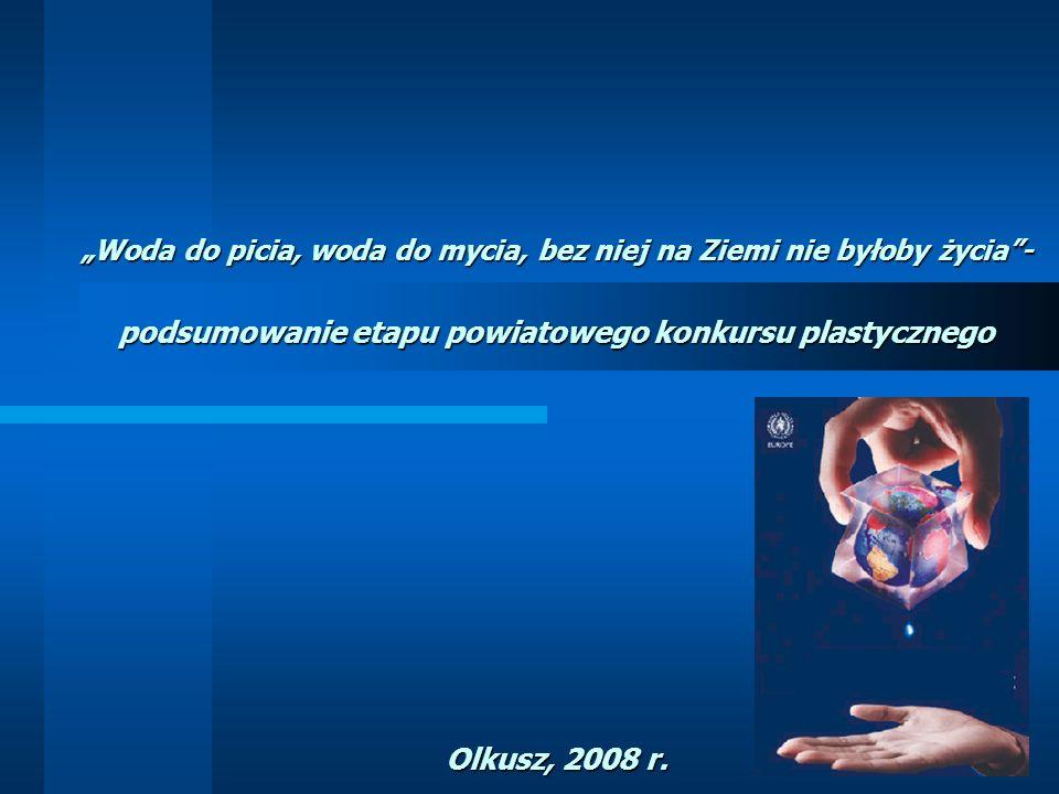 podsumowanie etapu powiatowego konkursu plastycznego Olkusz, 2008 r.