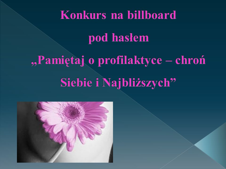 """Konkurs na billboard pod hasłem """"Pamiętaj o profilaktyce – chroń Siebie i Najbliższych"""