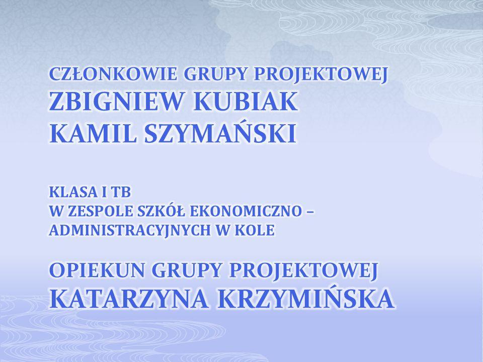 opiekun grupy projektowej katarzyna krzymińska