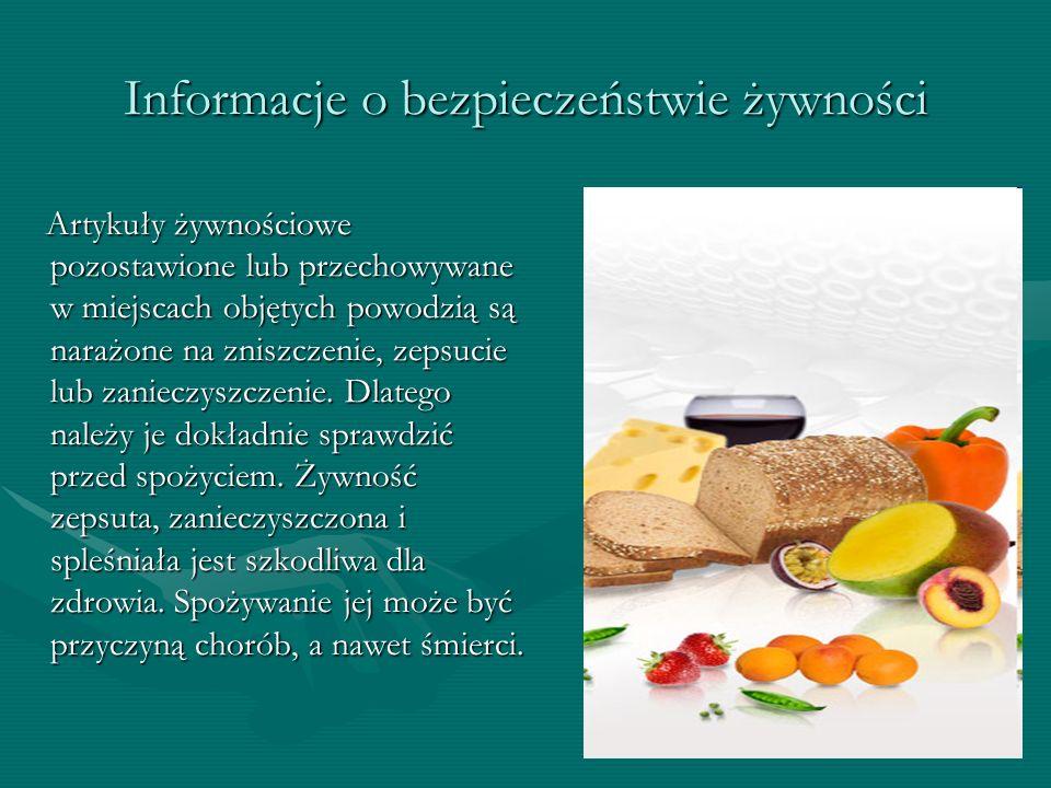 Informacje o bezpieczeństwie żywności