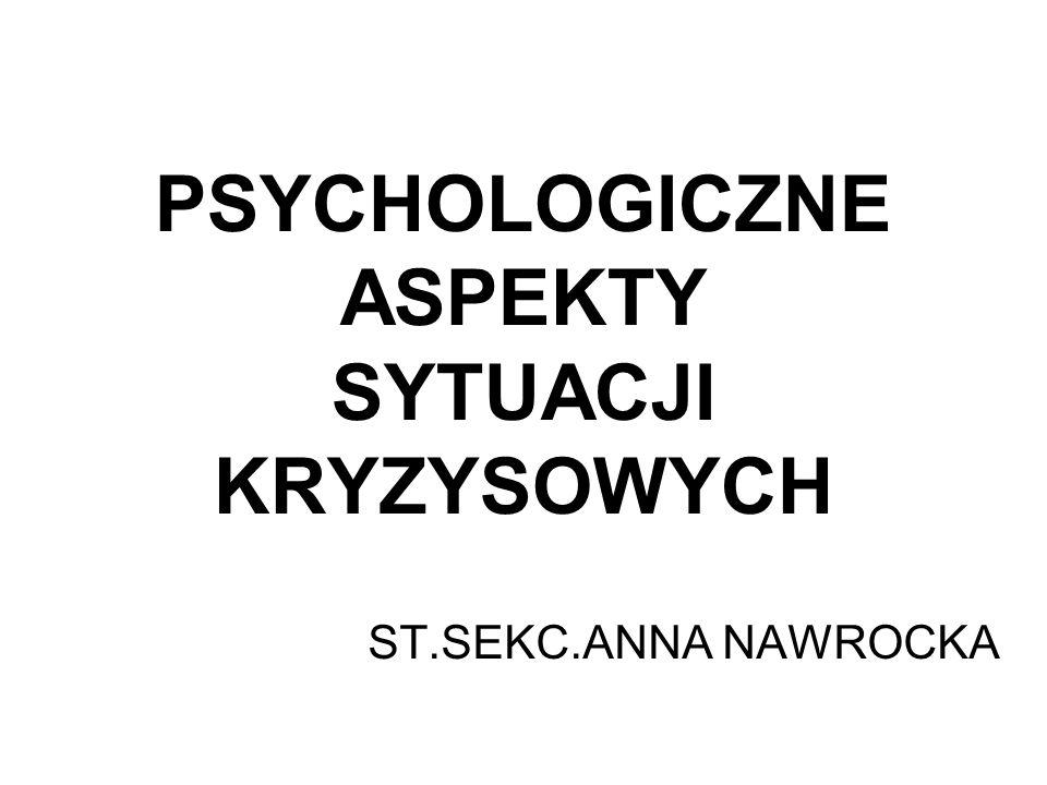 PSYCHOLOGICZNE ASPEKTY SYTUACJI KRYZYSOWYCH