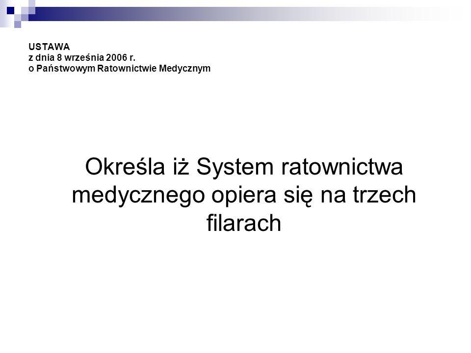 USTAWA z dnia 8 września 2006 r. o Państwowym Ratownictwie Medycznym