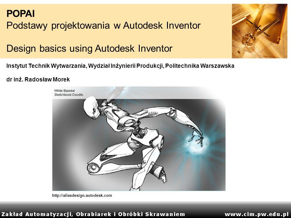 Podstawy projektowania w Autodesk Inventor