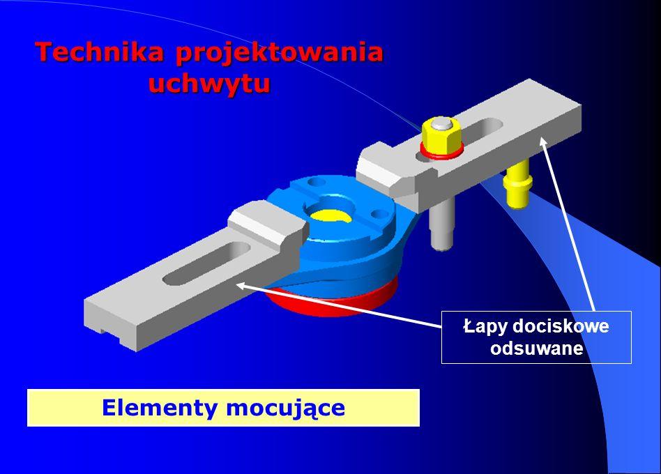 Technika projektowania uchwytu Łapy dociskowe odsuwane