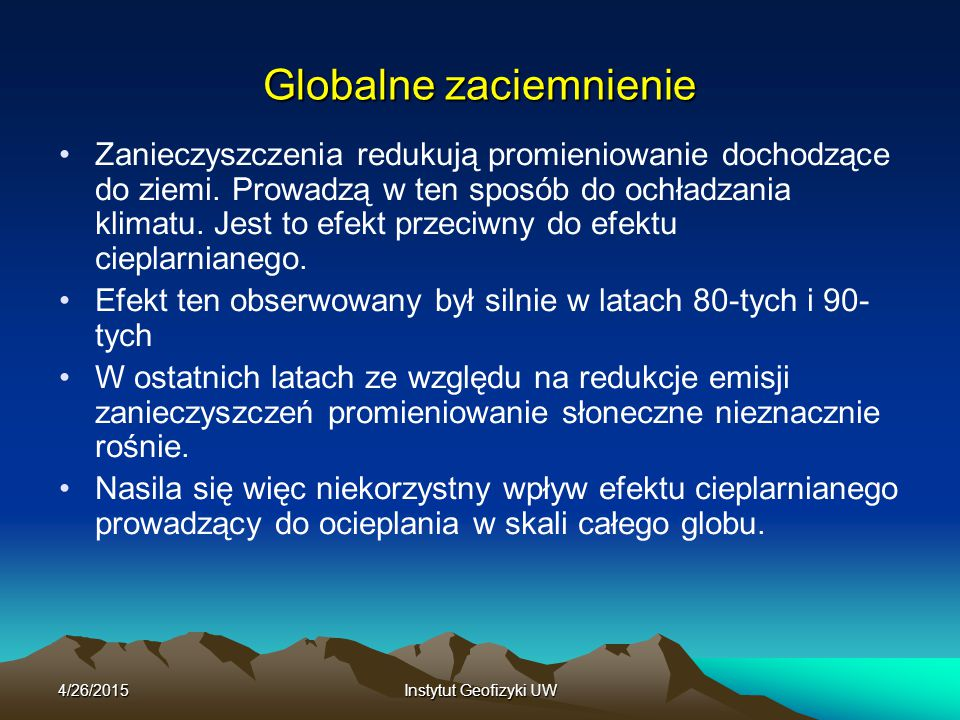 Globalne zaciemnienie