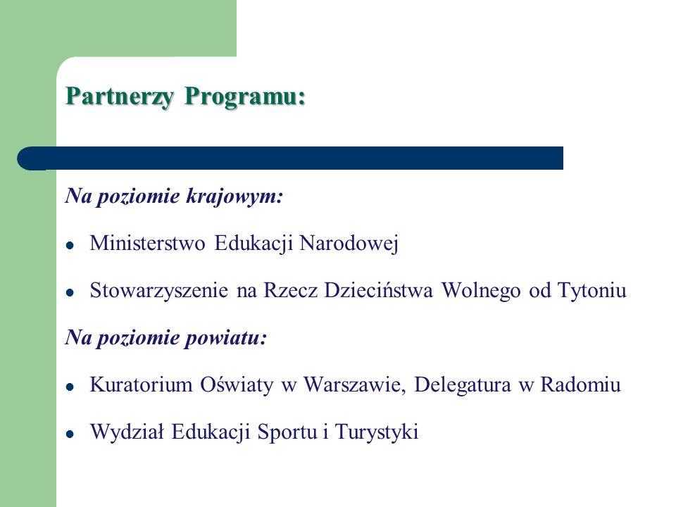 Partnerzy Programu: Na poziomie krajowym: