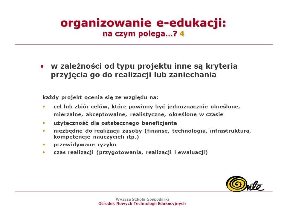 organizowanie e-edukacji: na czym polega… 4