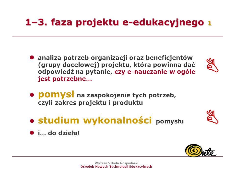 1–3. faza projektu e-edukacyjnego 1