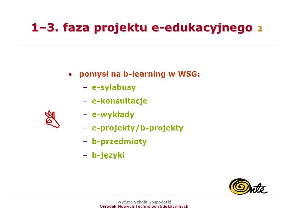 1–3. faza projektu e-edukacyjnego 2