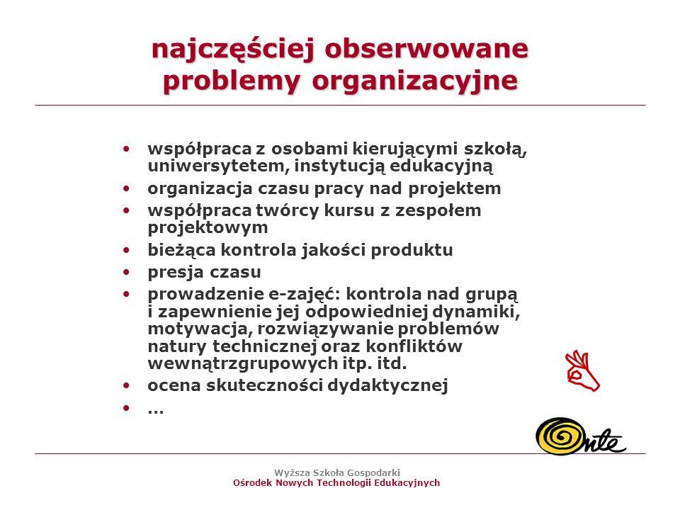 najczęściej obserwowane problemy organizacyjne