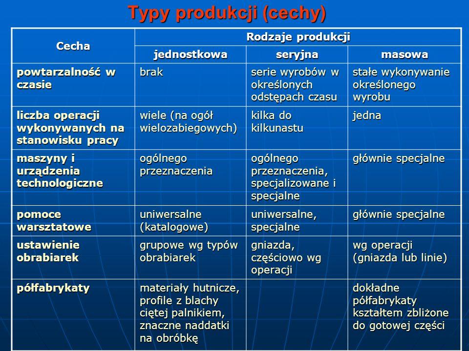 Typy produkcji (cechy)