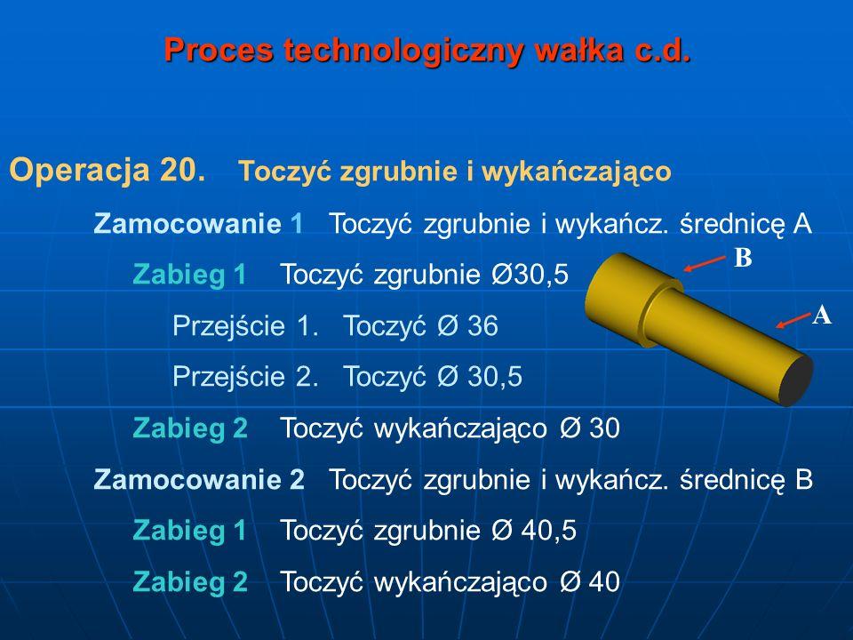 Proces technologiczny wałka c.d.