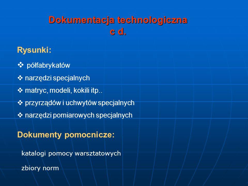Dokumentacja technologiczna c d.