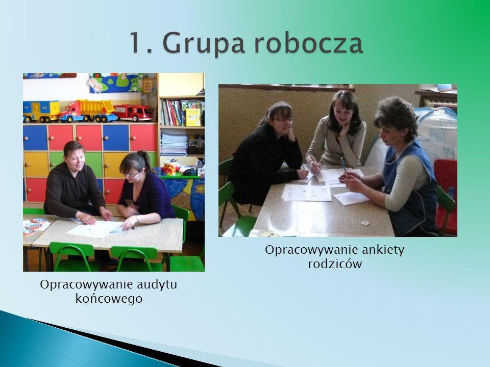 1. Grupa robocza Opracowywanie ankiety rodziców
