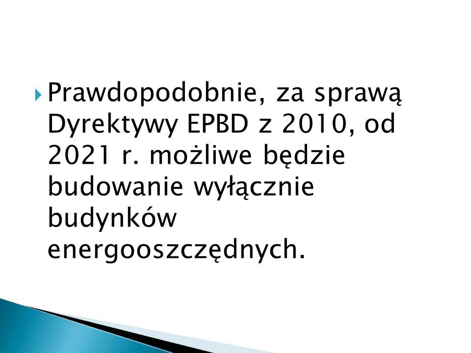 Prawdopodobnie, za sprawą Dyrektywy EPBD z 2010, od 2021 r