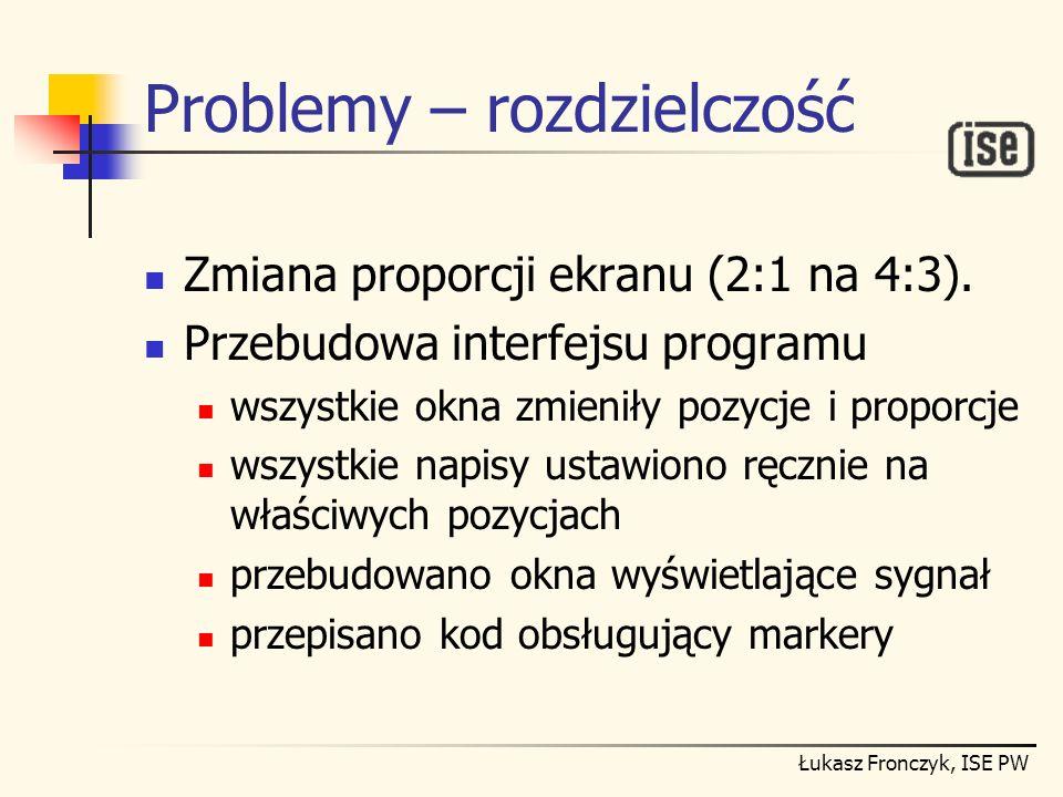 Problemy – rozdzielczość