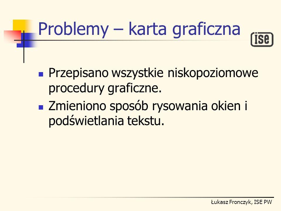 Problemy – karta graficzna