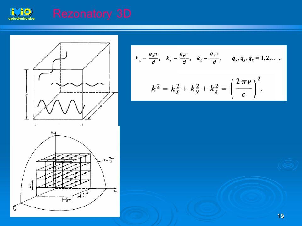 Rezonatory 3D optoelectronics