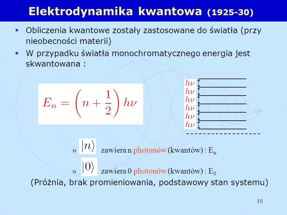Elektrodynamika kwantowa (1925-30)