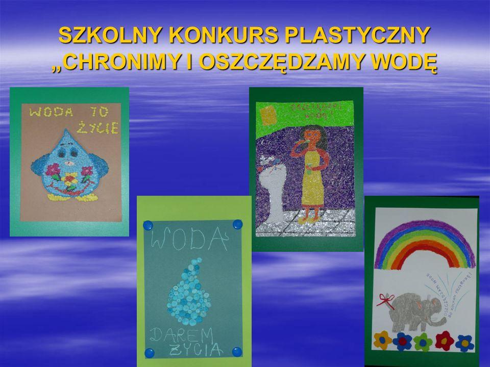 """SZKOLNY KONKURS PLASTYCZNY """"CHRONIMY I OSZCZĘDZAMY WODĘ"""