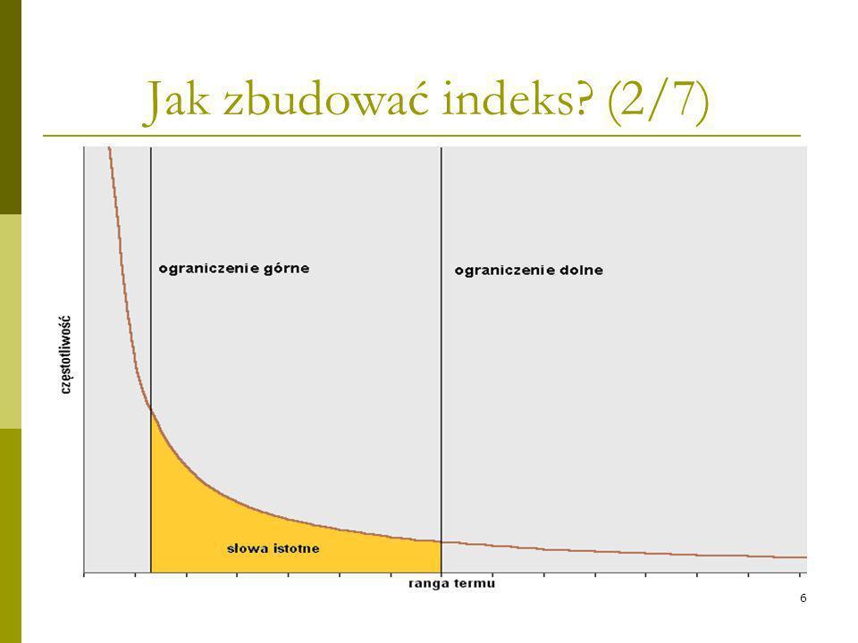 Jak zbudować indeks (2/7)
