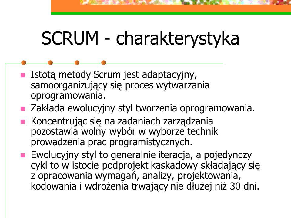 SCRUM - charakterystyka