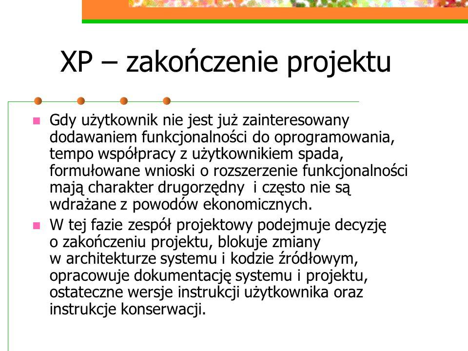 XP – zakończenie projektu
