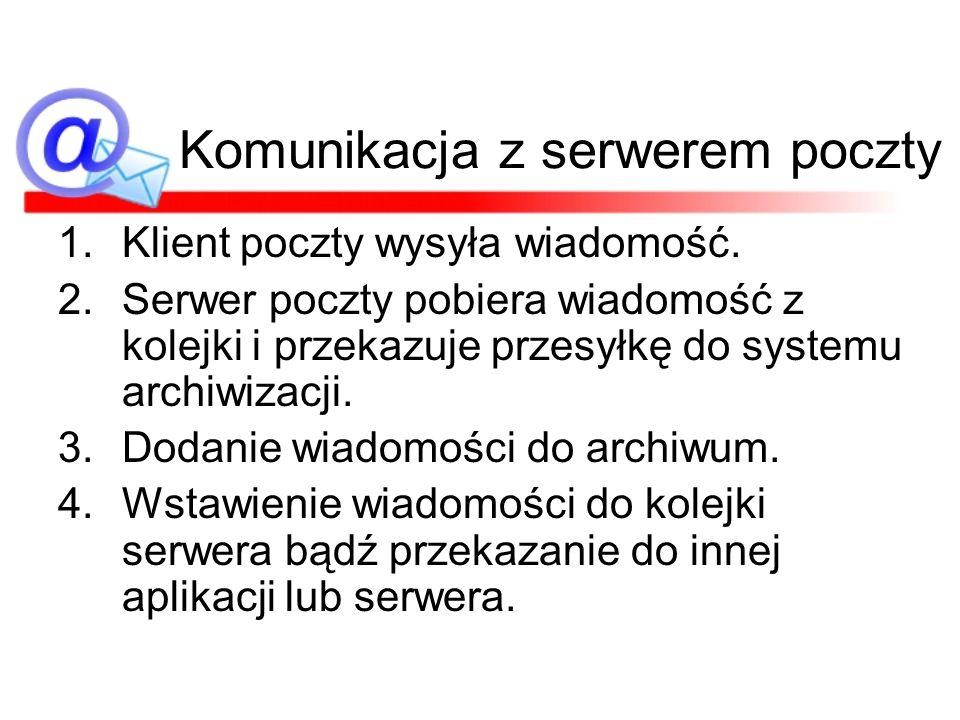 Komunikacja z serwerem poczty