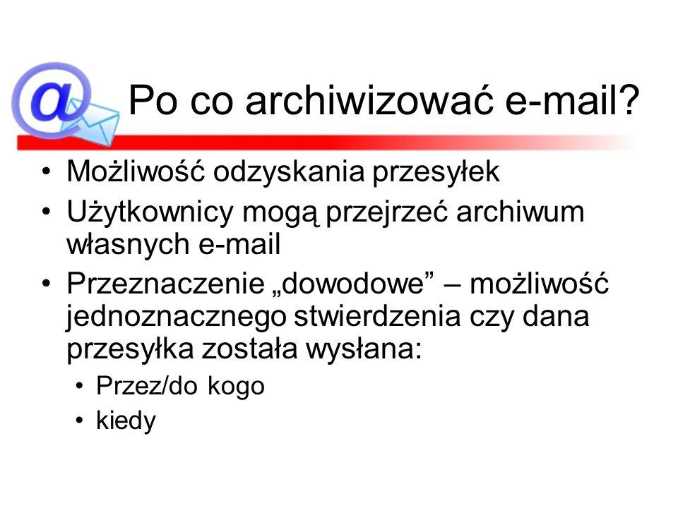 Po co archiwizować e-mail