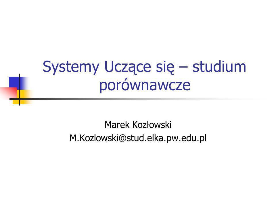 Systemy Uczące się – studium porównawcze