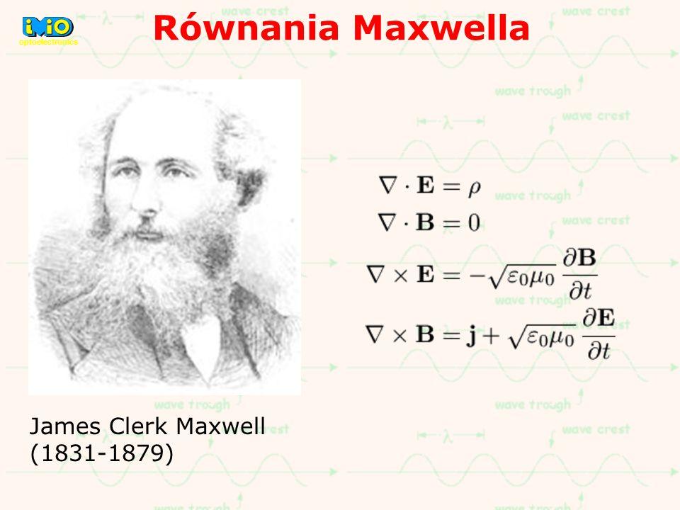 Równania Maxwella optoelectronics James Clerk Maxwell (1831-1879)