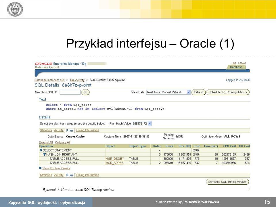 Przykład interfejsu – Oracle (1)