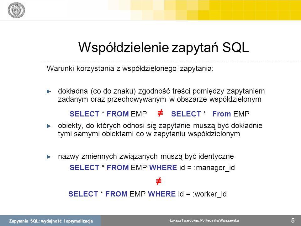 Współdzielenie zapytań SQL